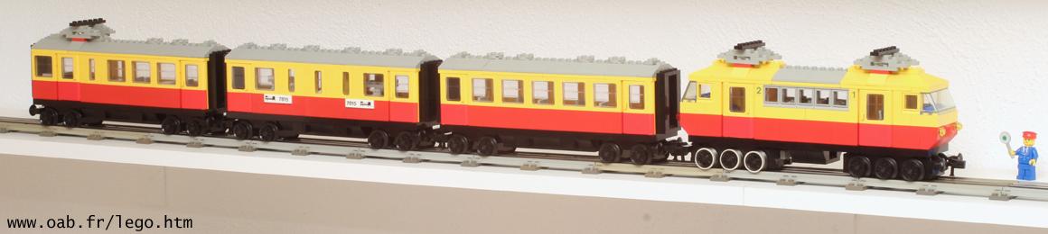Train Lego 7740 et wagon 7815