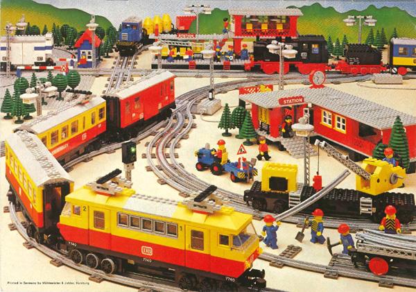 Trains Lego époque 12V