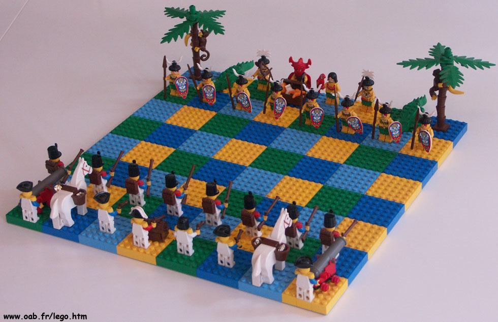 jeu d 39 checs lego pirates soldats du gouverneur am rindiens. Black Bedroom Furniture Sets. Home Design Ideas