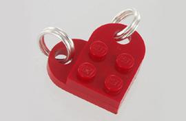 briques pendentifs... bijou coeur