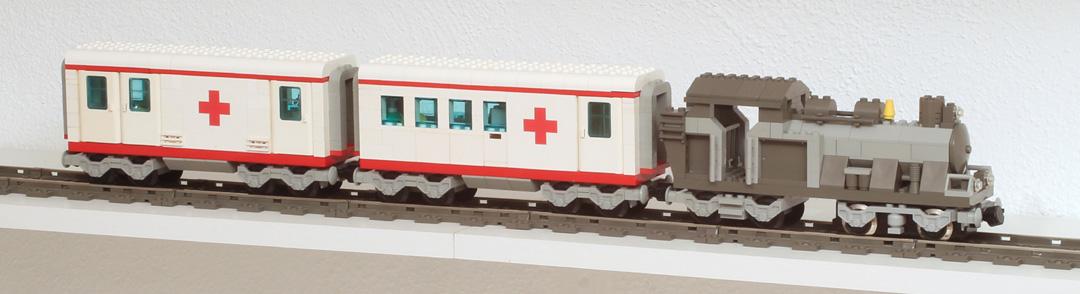 Train hôpital Lego