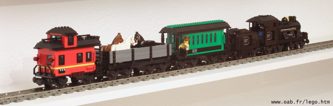 Locomotive Lego 10205 et wagons 10015 et 10014