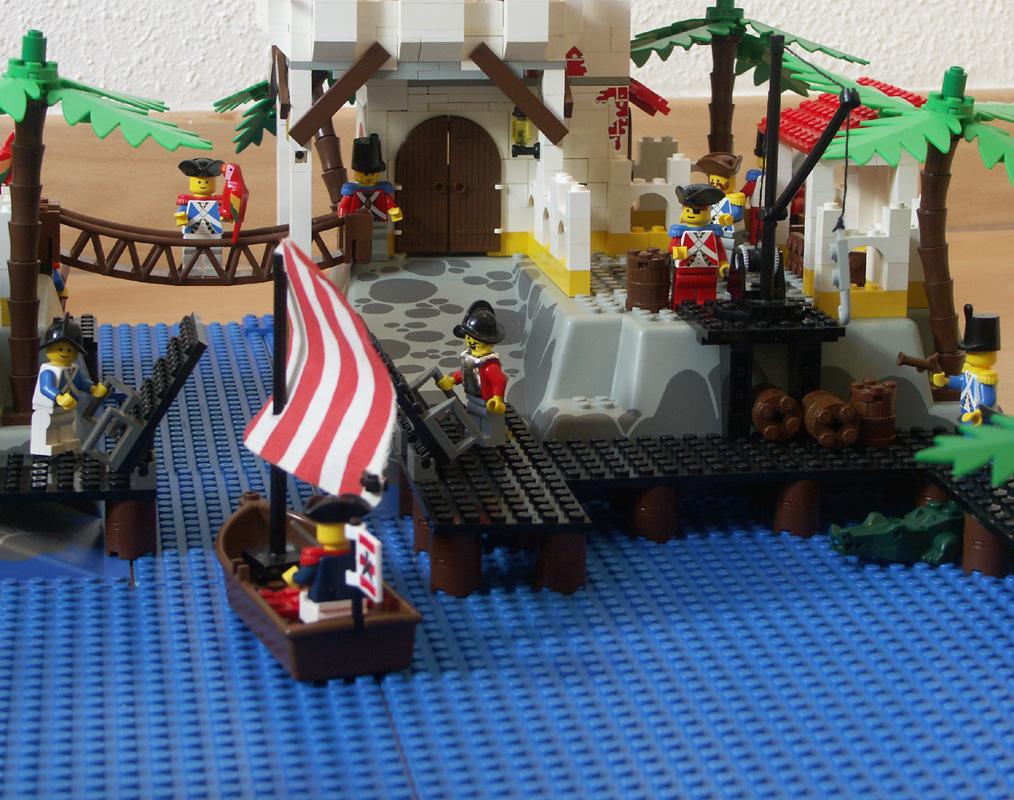 Oro porto l 39 le du gouverneur construction lego emmanuel bernard - Ile pirate lego ...