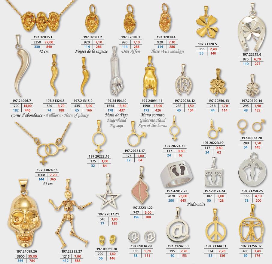 Très Symboles page 3, bijoux porte-bonheur en or et argent, pendentif  IF98